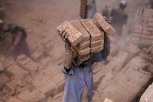 Bricks Carry Labourer